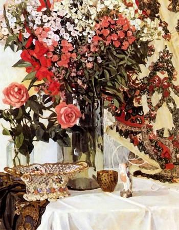 Картина А.Я. Головина «Натюрморт. Цветы в вазе»