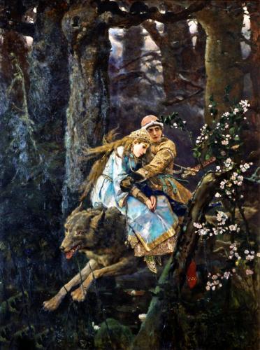 Картина В.М.Васнецова «Иван-царевич на Сером Волке»