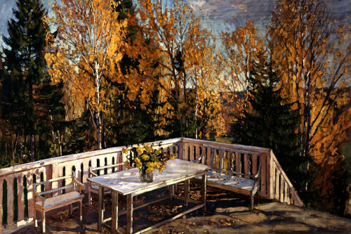 """Картина С. Ю. Жуковского """"Осень. Веранда"""""""